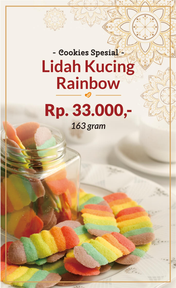 lidah kucing rainbow